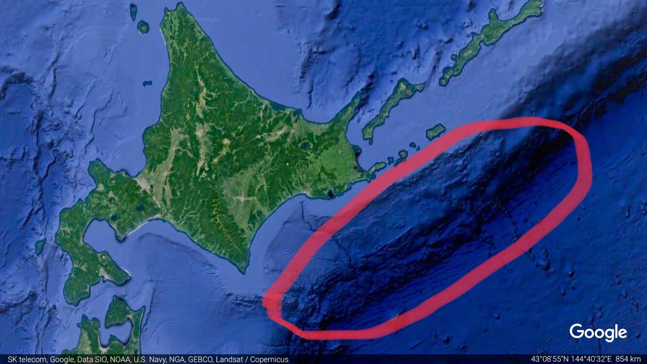北海道沖で超巨大地震が発生予測!?政府が公表。
