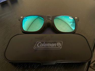 メガネの上からかけられる偏光サングラス!コールマンのクリップオン跳ね上げ式!